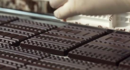Delicadíssimas barras de chocolate
