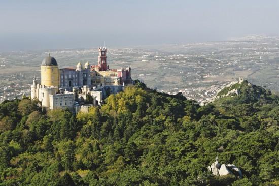 Ah, sim! Uma vista linda do Castelo da Pena, uma das atrações turísticas da cidadela!