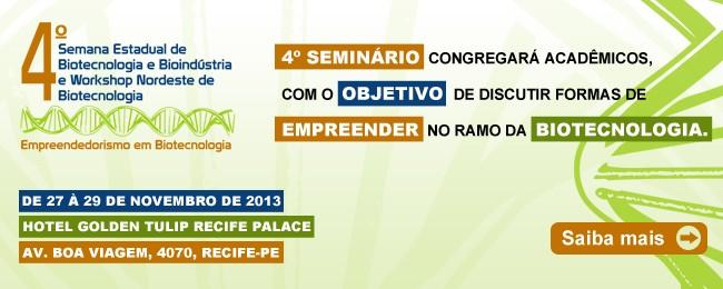 4º Semana Estadual de Biotecnologia e Bioindústria