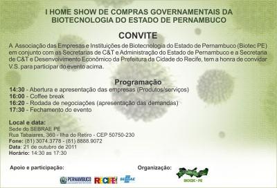 I Home Show da Biotecnologia Pernambucana
