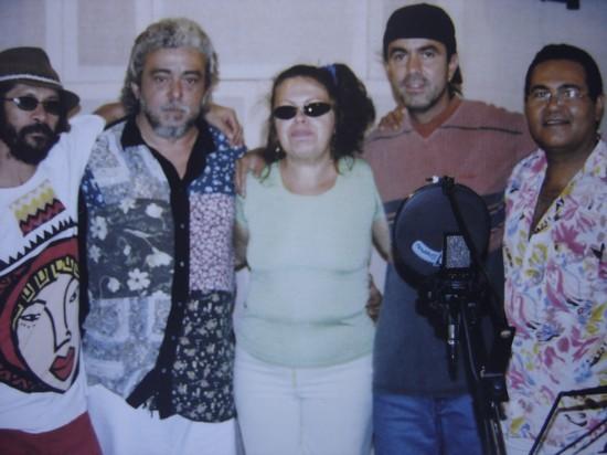Com Amelinha ,Anchieta,Genaroe