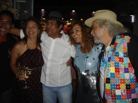 com Leda, Maciel e Irah