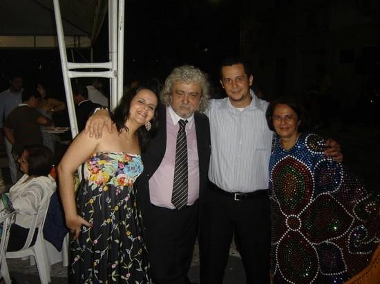 com Mariana, Dulce e João Paulo