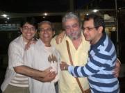 Xico com João Cláudio, Nilson e Paulo Vanderley