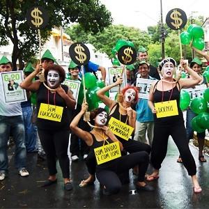 Manifestação pelas TTF no Recife.