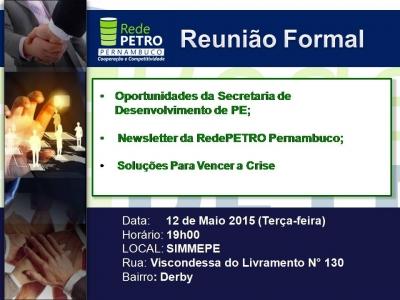 III REUNIÃO FORMAL DA REDEPETRO PERNAMBUCO