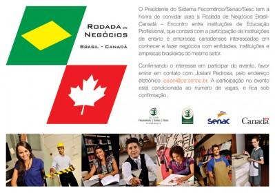RODADA DE NEGÓCIOS BRASIL - CANADÁ