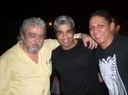 Xico com Cezinha e Targino Gondim,lançamento do Balaio de Amor