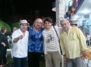 COM FLAVIO LEANDRO, ELIEZER SETTON e PAULO VANDERLEY