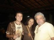 com o Poeta FLAVIO LEANDRO  e CISSA LEANDRO